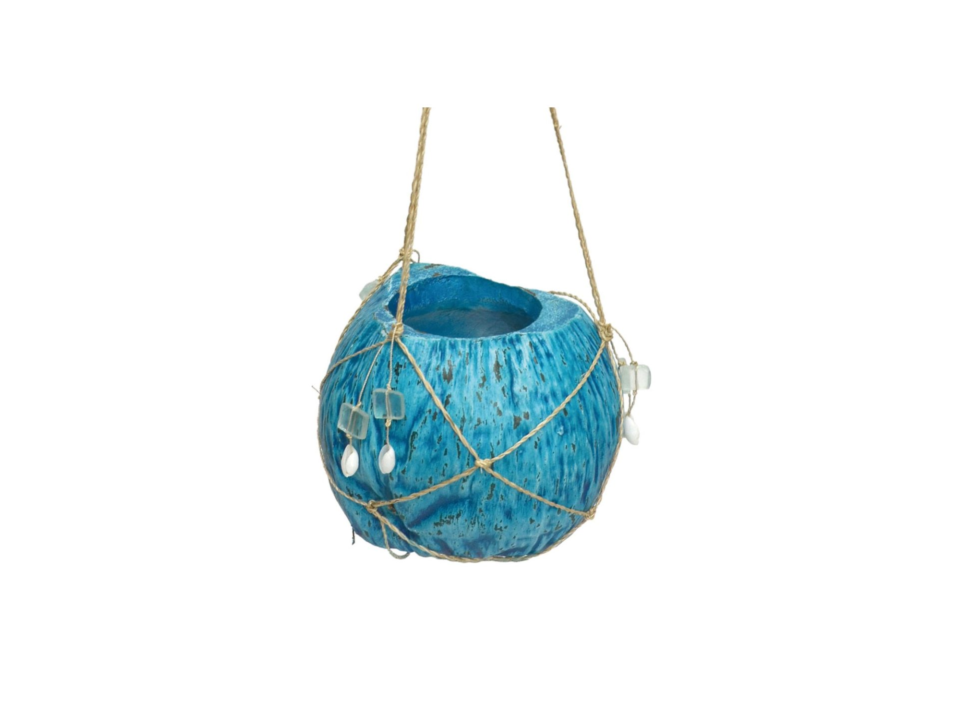 ハンキングココプランター(ブルー)