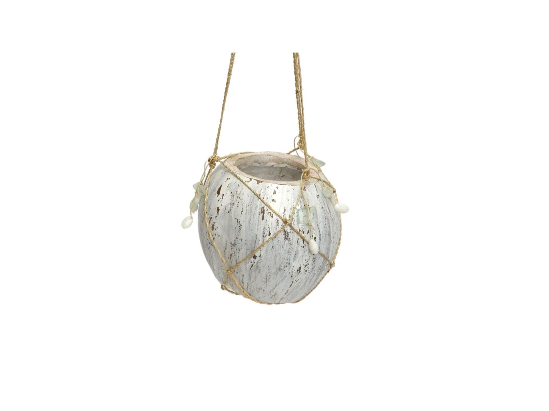 ハンキングココプランター(ホワイト)