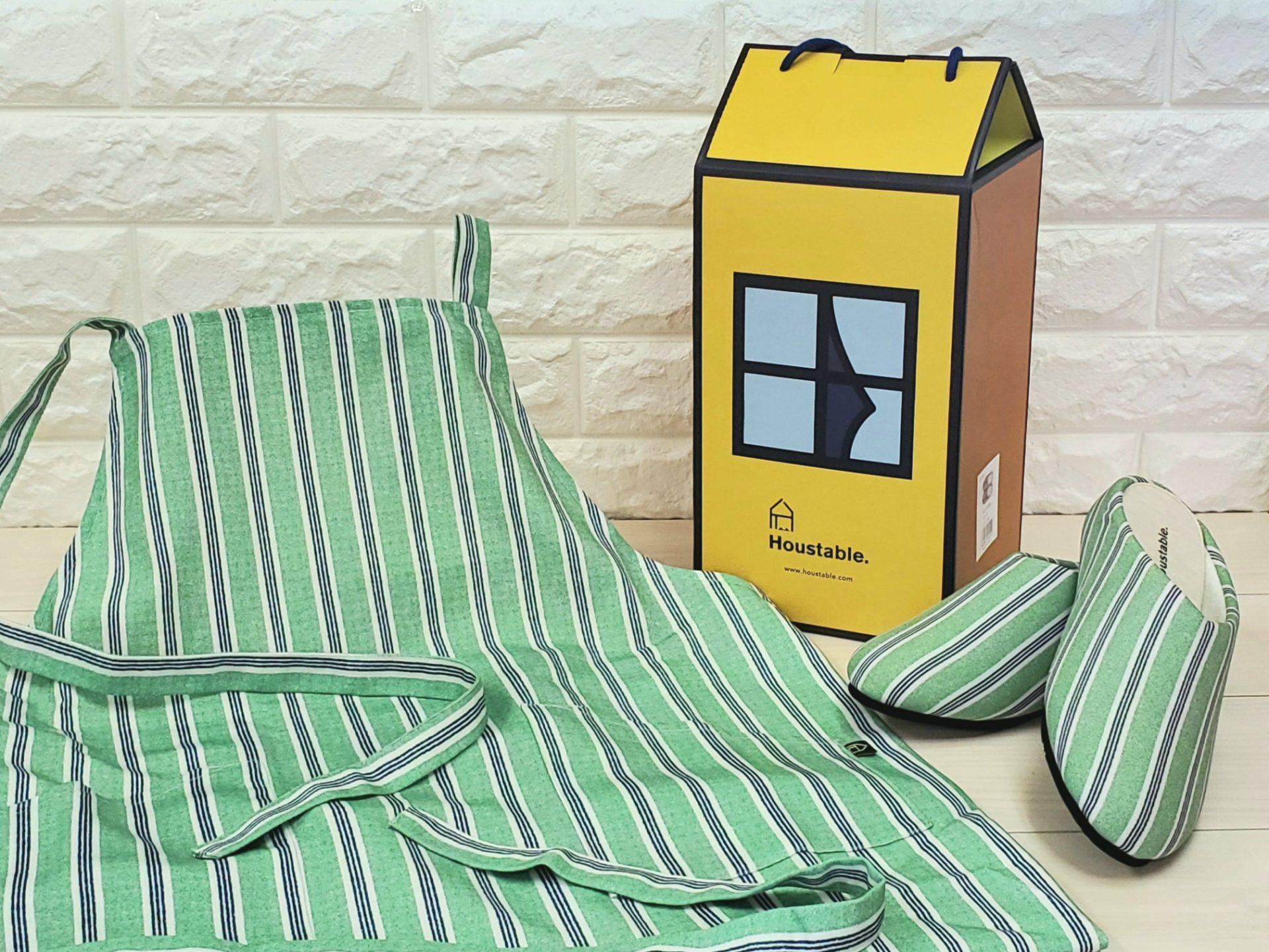 Housetable Kitchen SLIPPAERS & APRON セット(GREEN)